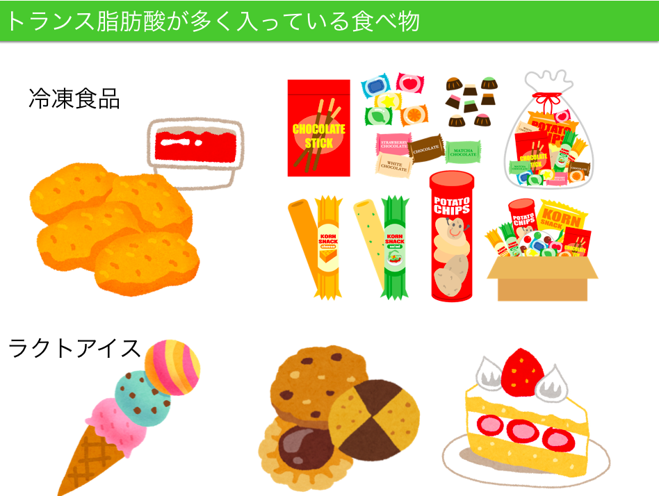 トランス脂肪酸を含む食べ物jpg